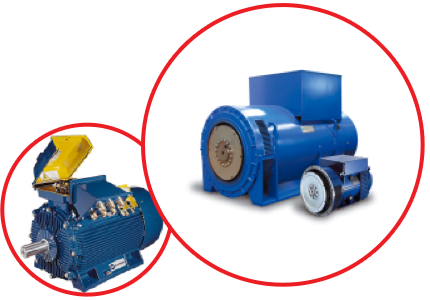 Induction Motors and Generators suitable for industrial enviroments